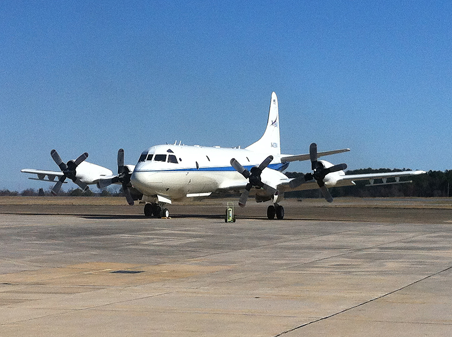 NASA OIB P-3 Orion having completed its final check flight ...