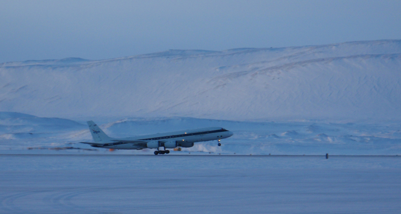 DC-8 Thule Greenland 2010 -Rotation speed | SEAC4RS