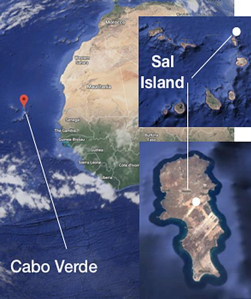 Location of Sal, Cabo Verde