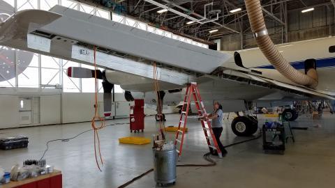 P-3 Wing instrument wiring installation