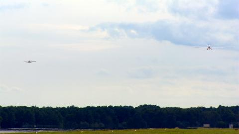 AV-6 and T-34 chase together at landing (9.20.12)