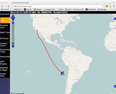 DC-8 Transit to Punta Arenas