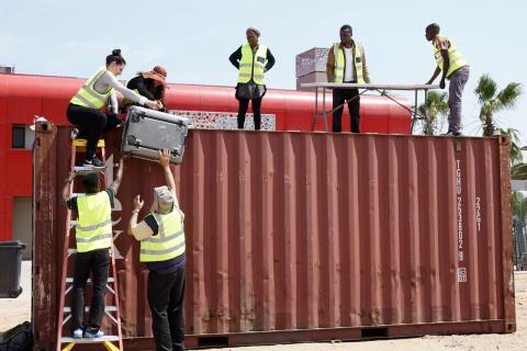 Setting up the AERONET - Cimel at Walvis Bay Airport