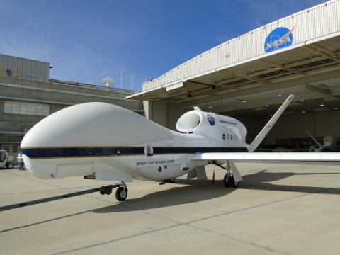 Global Hawk outside the hangar (2011)