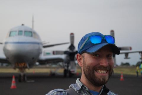 Sam at P3 arrival in Sao Tome - ORACLES