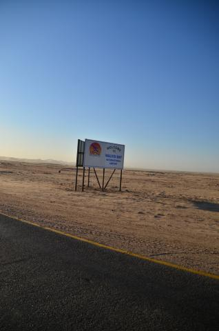 ORACLES Walvis Bay Airport sign