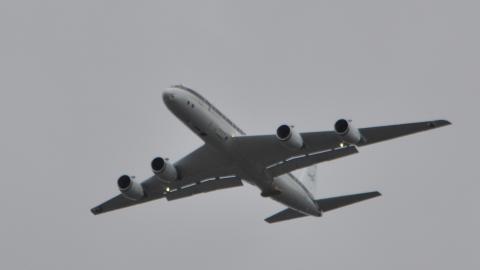 NASA DC-8 on a ramp pass.
