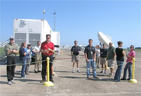 Waiting by the Mobile Operation Trailers  for the Global Hawkʻs first landing at Wallops Flight Facility (2012)