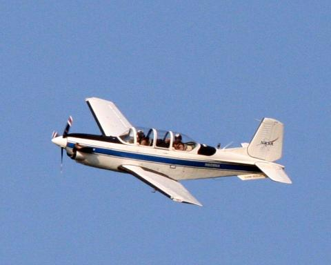 T-34 chase aircraft for Global Hawk (9.12.12)