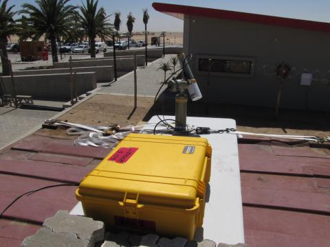 Cimel Installation at Walvis Bay Airport
