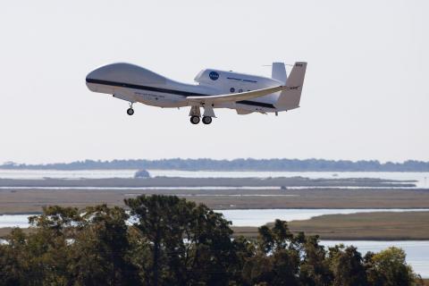 AV-6 takes off from Wallops (9.14.12)