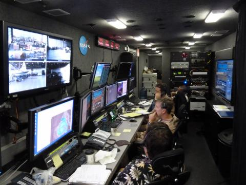 GHMOF (Global Hawk Mobile Operations Facility) during TN872 Ferry Flight (2012)