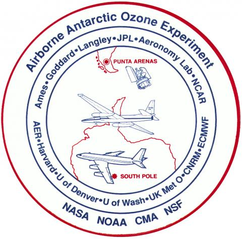 Airborne Antarctic Ozone Experiment (AAOE) Logo