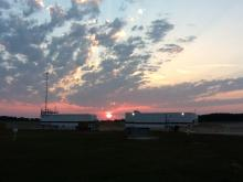 Sunrise over PMOF and GHMOF awaiting AV-6 landing (9.27.12)