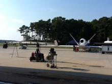 Discovery Channel prepares to film AV-6 in 3-D (9.27.12)