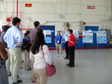 Congressional Staffers visit Wallops and meet with Scott Braun to learn about HS3 (2012)