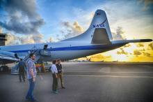 ORACLES P-3 Sun rise in Barbados