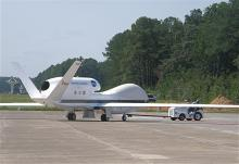 Towing toward the Wallops Flight Facility N-159 Hangar (2012)