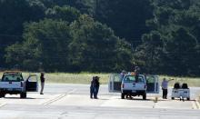 AV-6 approaches landing at WFF (9.12.12)