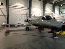 SPEC LearJet in the Southwest Services hangar