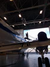 P-3 ORACLES Integration - getting to instrument on the top of the plane