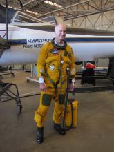 "ER-2 Pilot ""Coach"" suited up"