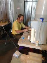 Jack Dibb working on his Samples