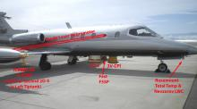 SPEC Lear Jet - Labled Sensors