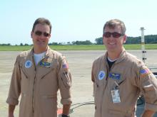 Phil Hall and Jon Neuhaus with TN872 after Ferry Flight (2012)