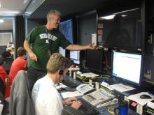 Deputy Principal Investigator Paul Newman in the Payload Mobile Operations Facility (Sep 2012)