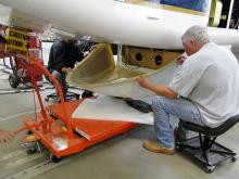 Installation of HIRAD rear fairing on AV-1 (9.13.12)