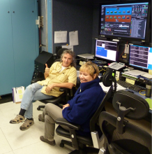 Don Sullivan and Dorothy Patterson in the Global Hawk Payload Mobile Operations Facility at Wallops (Sep 2012)