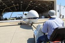 1st time going into the Wallops Flight Facility Hangar (2012)