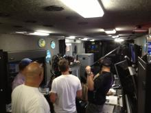 HS3 media coverage in the Global Hawk Mobile Operations Facility (9.27.12)