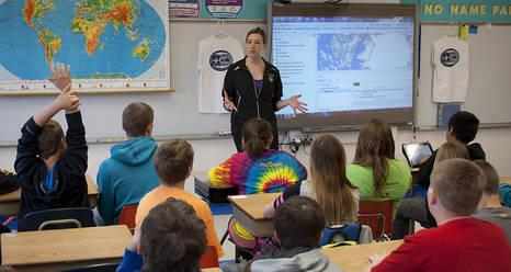 A sixth grade class at Central Elementary School in Tioga, North Dakota participated in NASA's 2014 Operation Ice Bridge Mission using the Mission Tool Suite for Education (MTSE) website.